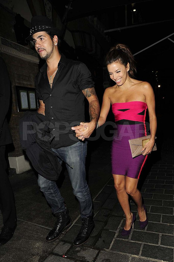 Eva Longoria and Eduardo Cruz out in London.