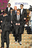 Ryan Kavanaugh, Gerard Butler, and Ryan Seacrest in Capri for Ryan's wedding.