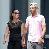 Alicia Keys and Swizz Beatz walking in NYC.