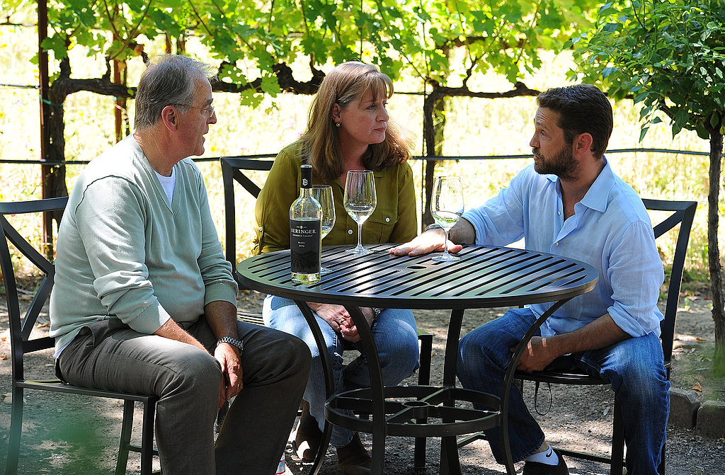 Jason Priestley with Laurie Hook in Napa.