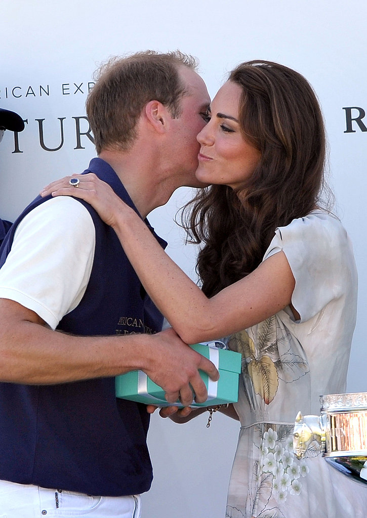 Kate Middleton and Prince William kiss in Santa Barbara.