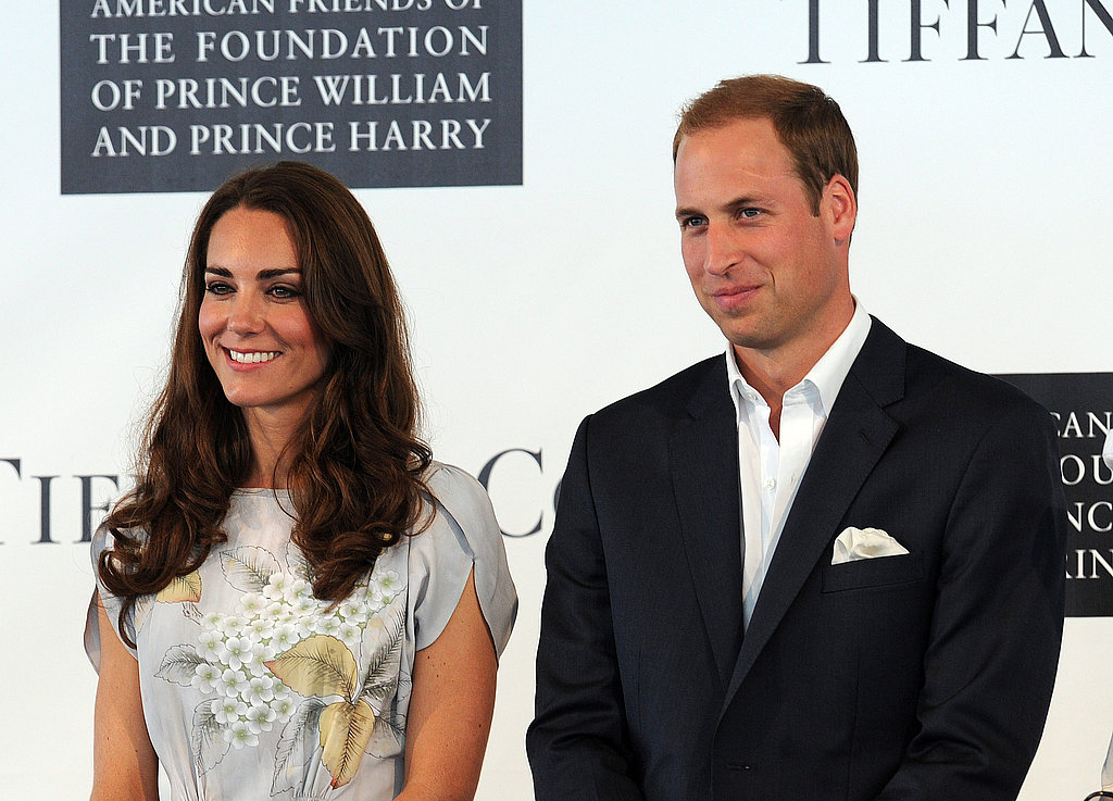Prince William and Kate Middleton smiled at the audience.