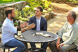 Michael Bublé and Jason Priestley at Beringer Vineyards in Napa.