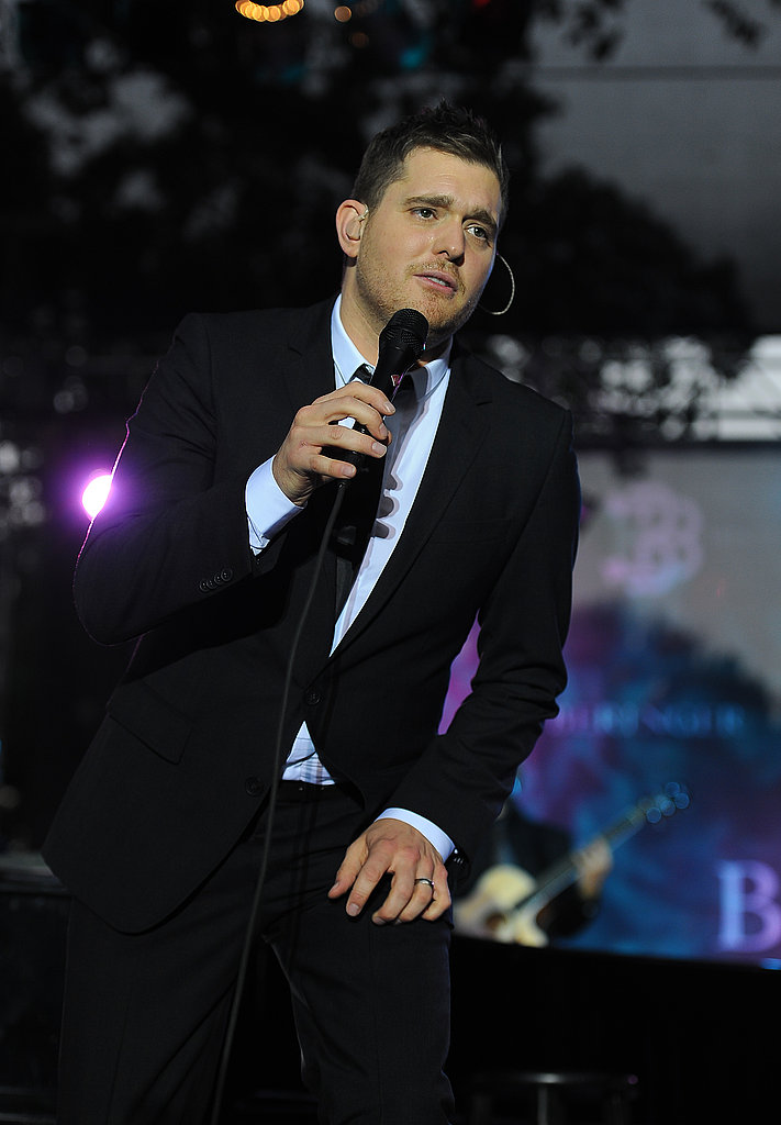 Michael Bublé performing at Beringer Vineyards in St. Helena.
