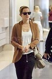 Emma Watson arrives at LAX.