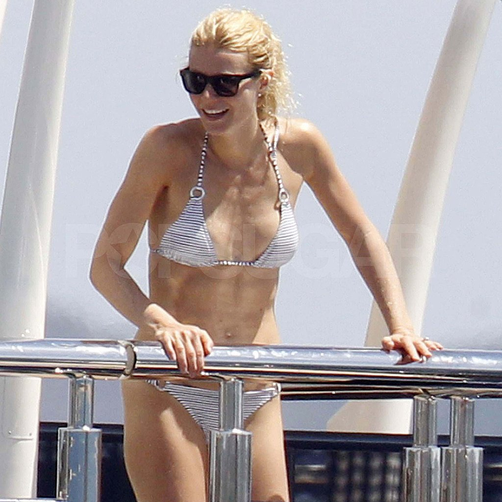 Gwyneth Paltrow in a bikini and sunglasses.