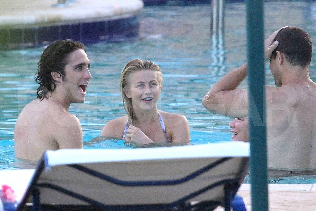 Julianne Hough laughs with Diego Boneta.