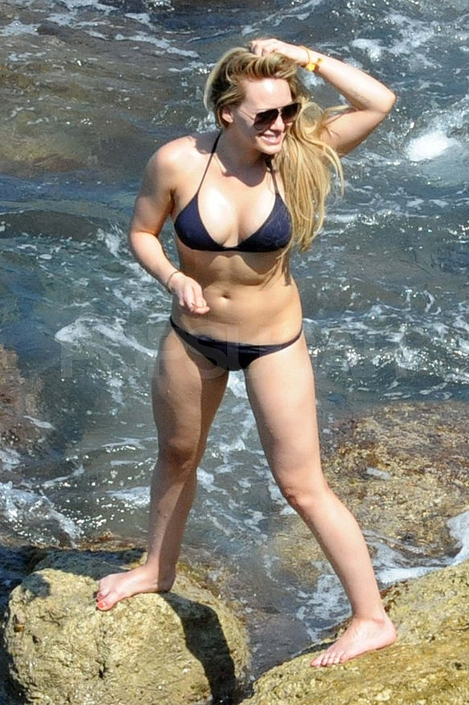 Hilary Duff in Italy in a bikini.