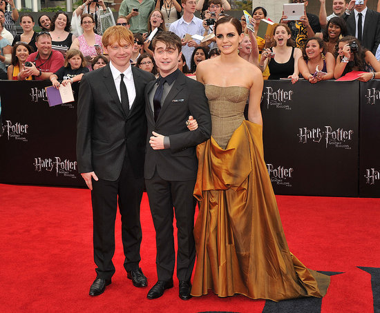 Emma, Daniel, and Rupert Pose Together at Their Final Harry Potter Premiere in NYC