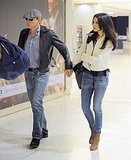 Just married Daniel Craig and Rachel Weisz at JFK.
