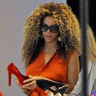 Beyonce Knowles Shoe Shopping in London