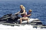 Gwyneth Paltrow jet-skiing with Moses in Italy.