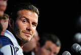 David Beckham fielded questions with the players.