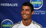 Cristiano Ronaldo smiled for a photo.
