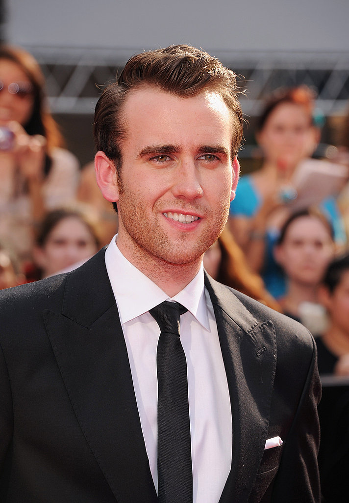 Matthew Lewis shows off his suited look at the Harry Potter and the Deathly Hallows Part II NYC premiere.
