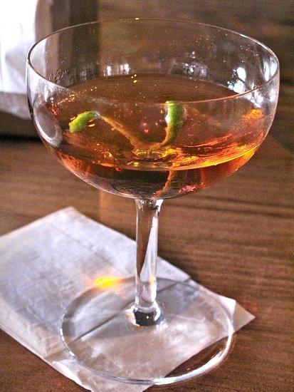 Bridgetown Milano: Evan Williams Single Barrel, Fernet Branca, Velvet Falernum, Sweet Vermouth. Winner all around.
