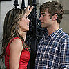 Chace Crawford and Elizabeth Hurley Filming Gossip Girl
