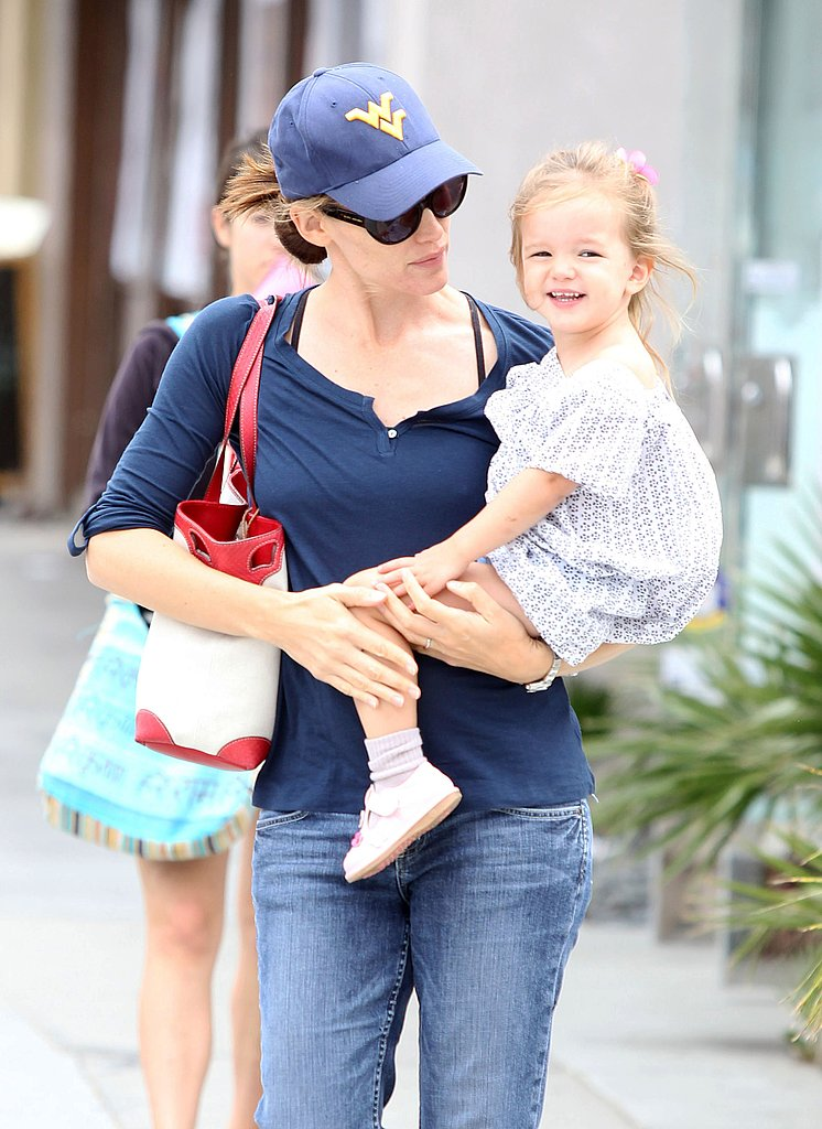 Jennifer Garner with daughter Seraphina Affleck.