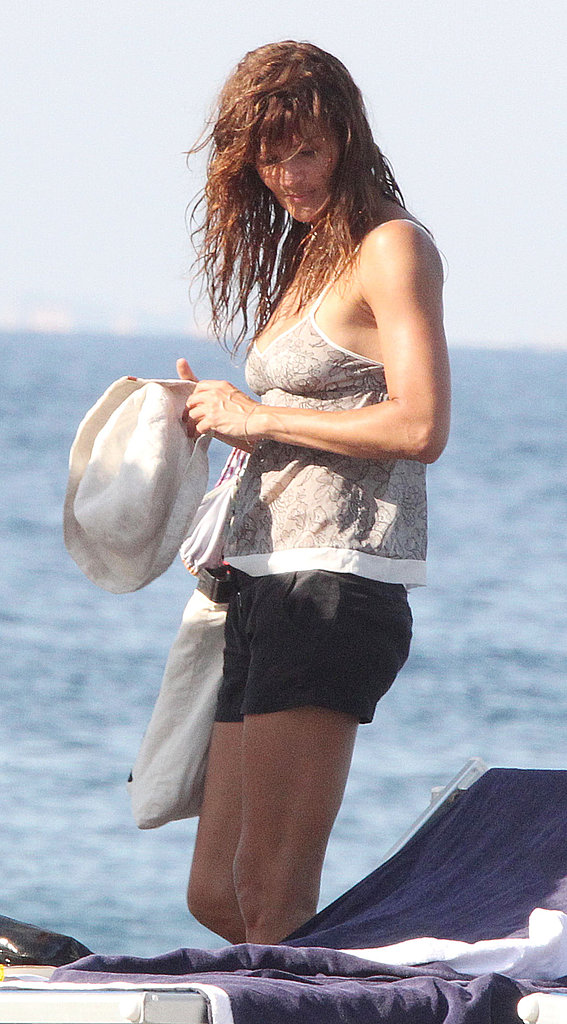 Helena Christensen in a cover-up.