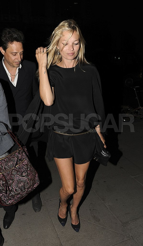Kate Moss with new husband Jamie Hince in London.