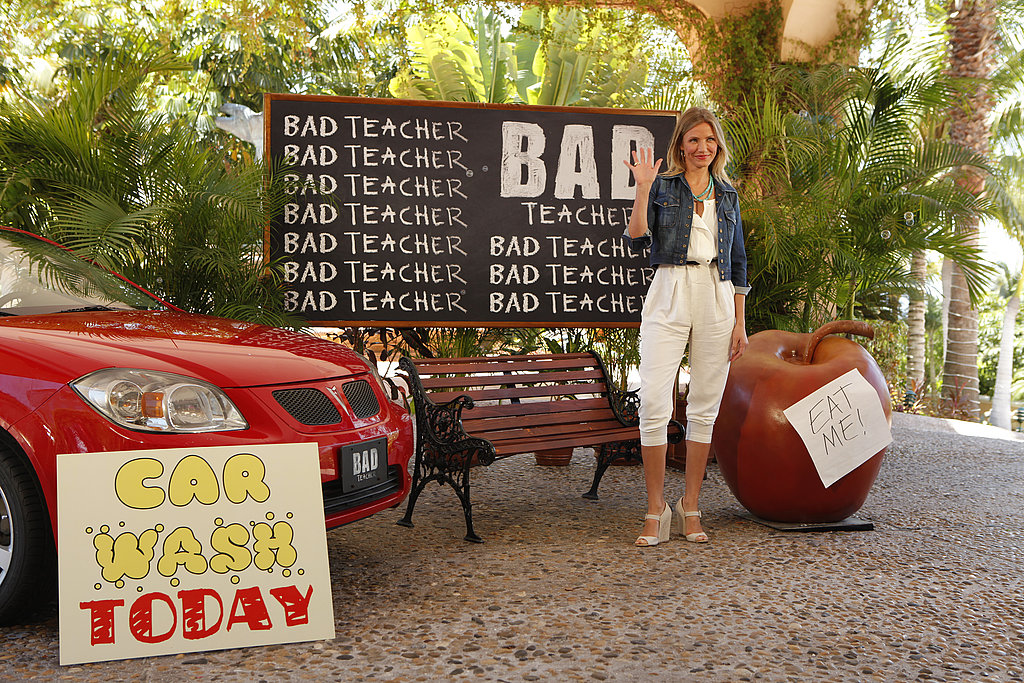 Cameron Diaz traveled to Mexico to promote Bad Teacher.