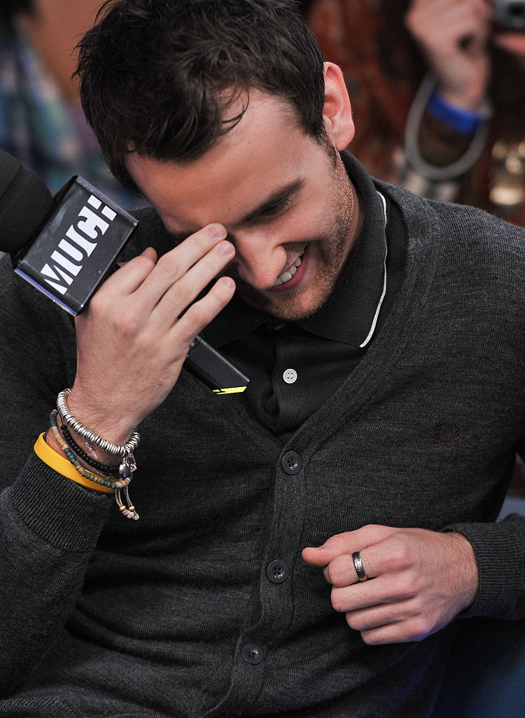Matthew Lewis looks adorable and a little embarrassed at MuchMusic HQ in Toronto, Canada.