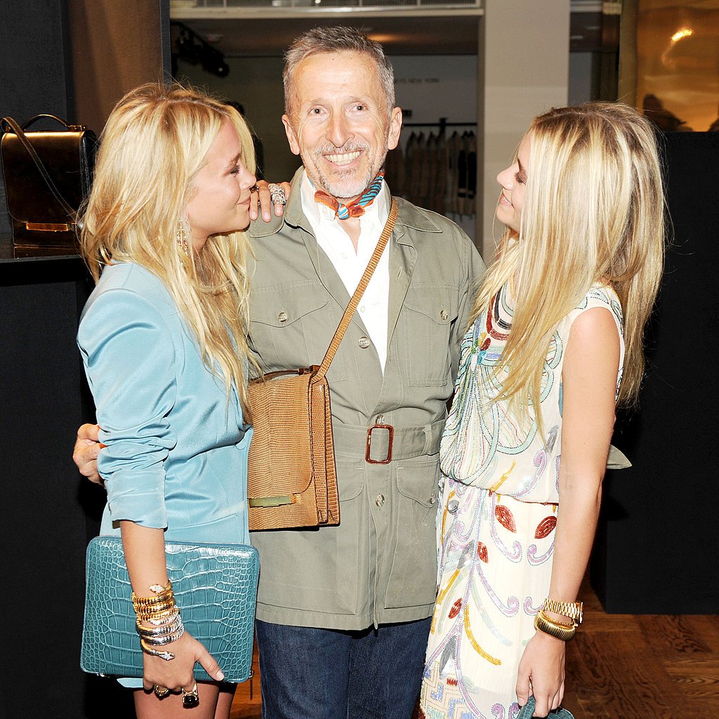 Mary-Kate Olsen, Simon Doonan, Ashley Olsen