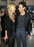 Kate Moss and Jamie Hince gaze at each other.