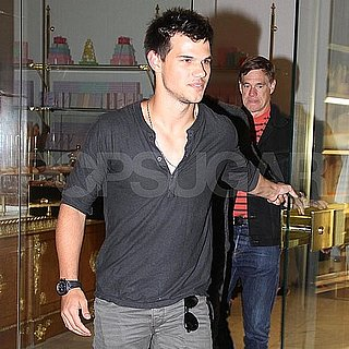 Taylor Lautner Pictures With Dustin Lance Black and Gus Van Sant in LA