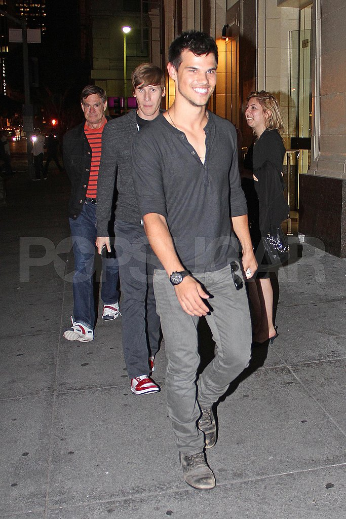 Taylor Lautner of Twilight smiles in LA.
