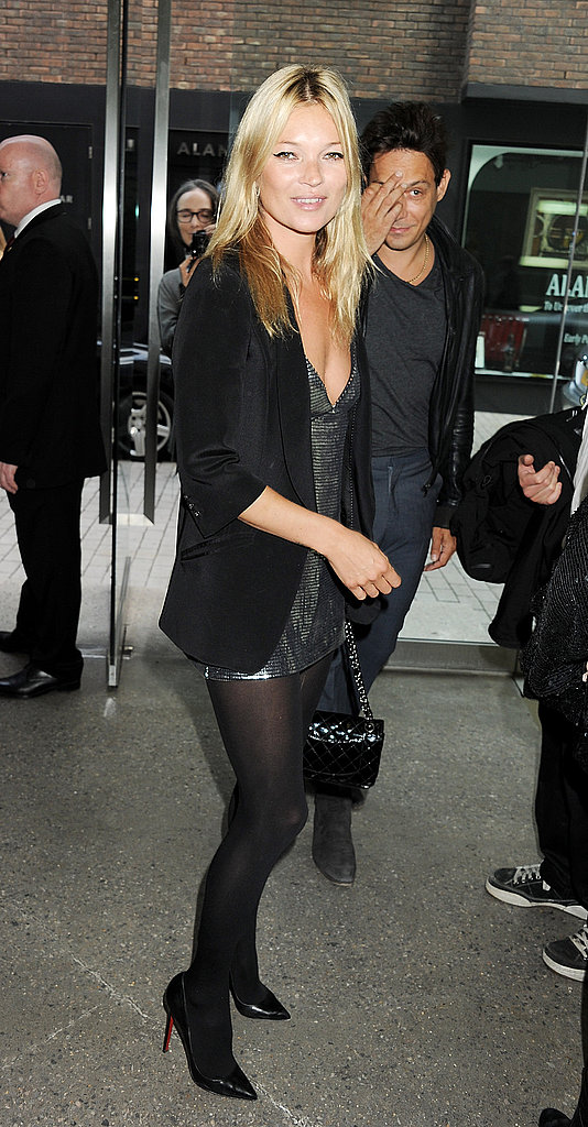 Kate Moss and Jamie Hince at an art party.