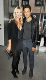 Kate Moss and Jamie Hince at a Jake and Dinos Champan exhibit.