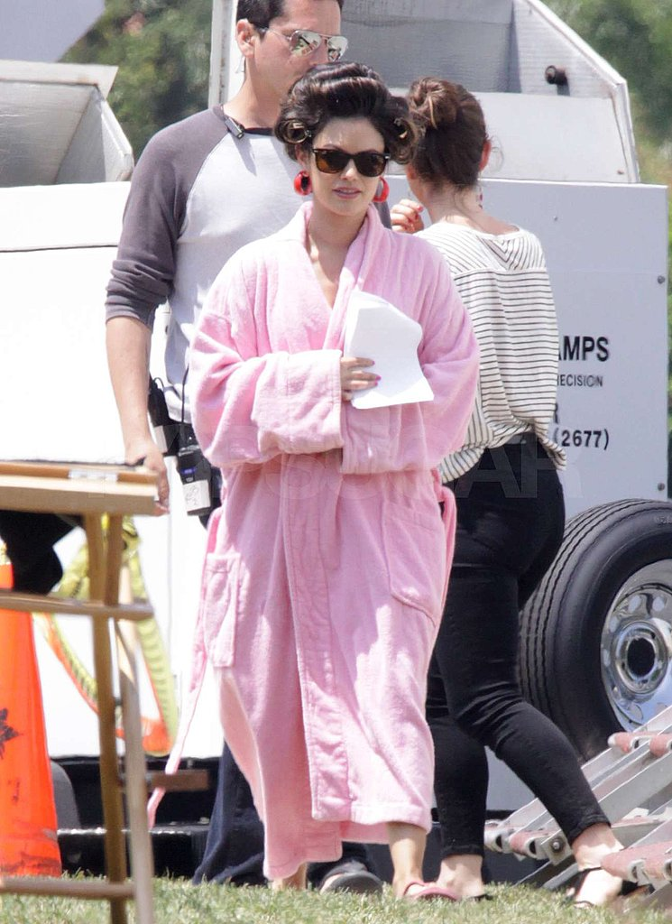 Rachel Bilson was back to work on the movie set.