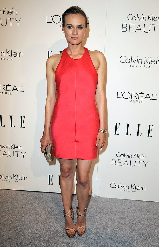 The starlet opted for a bright little Calvin Klein shift at the Elle Women in Hollywood Tribute in 2010.
