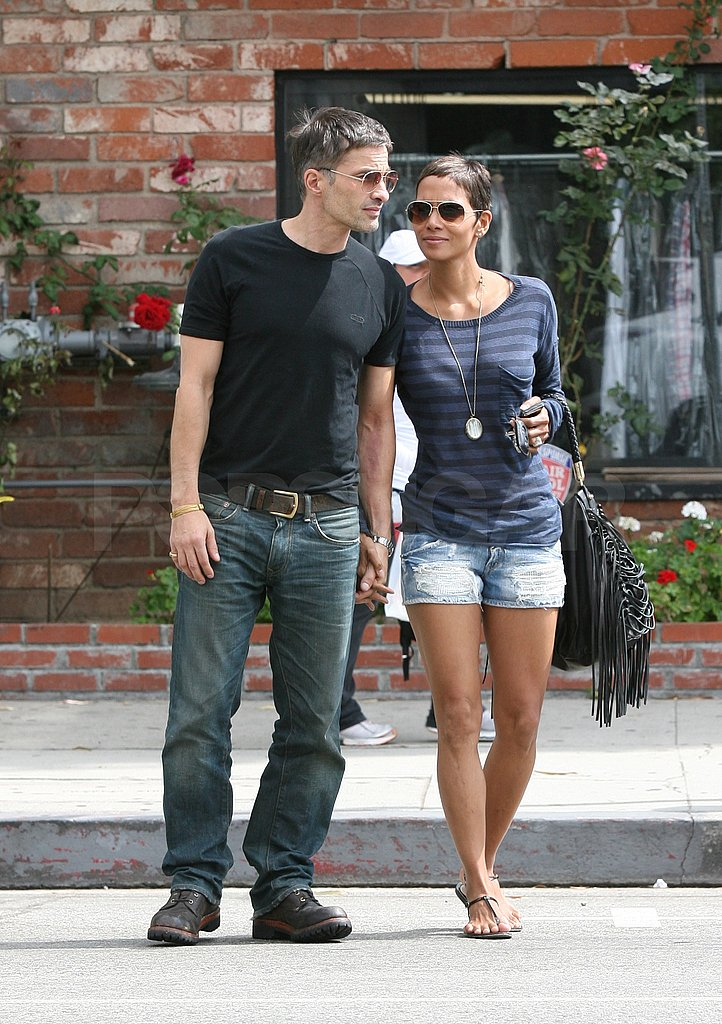 Halle Berry wore short shorts for her lunch date.