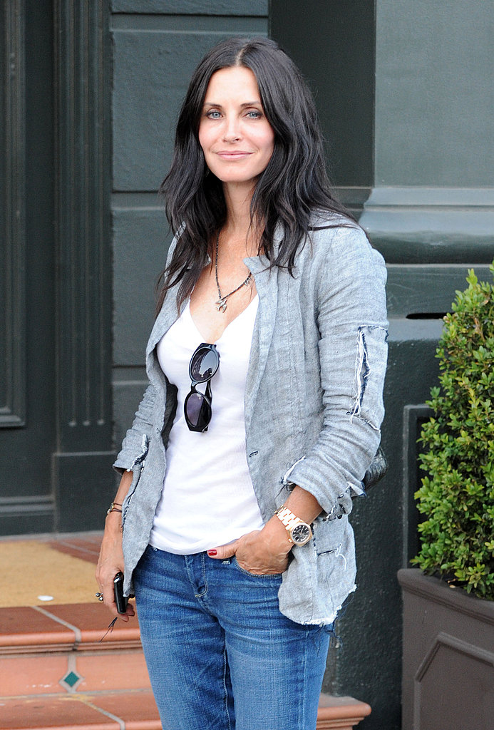 Courteney Cox left Tavern in Brentwood.