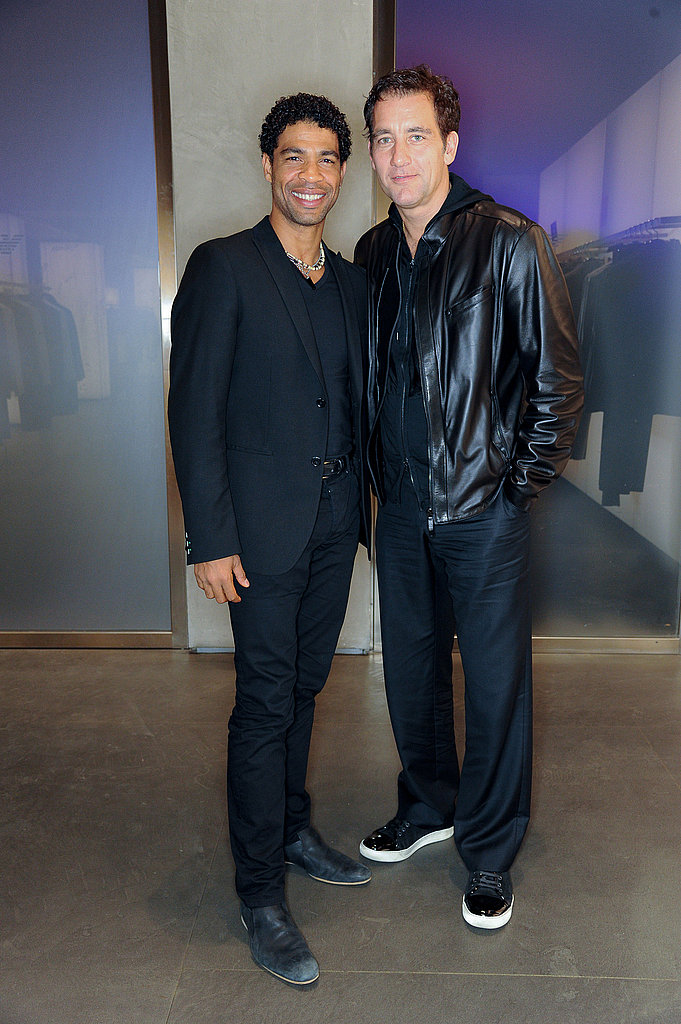 Clive Owen and pal Carlos Acosta at Armani party.