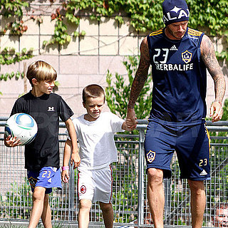 David Beckham, Romeo Beckham, and Cruz Beckham Together