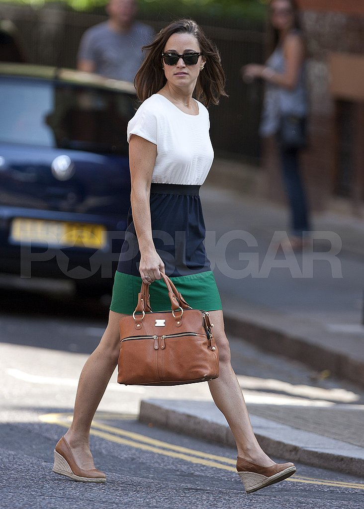 Pippa Middleton in wedge heels.