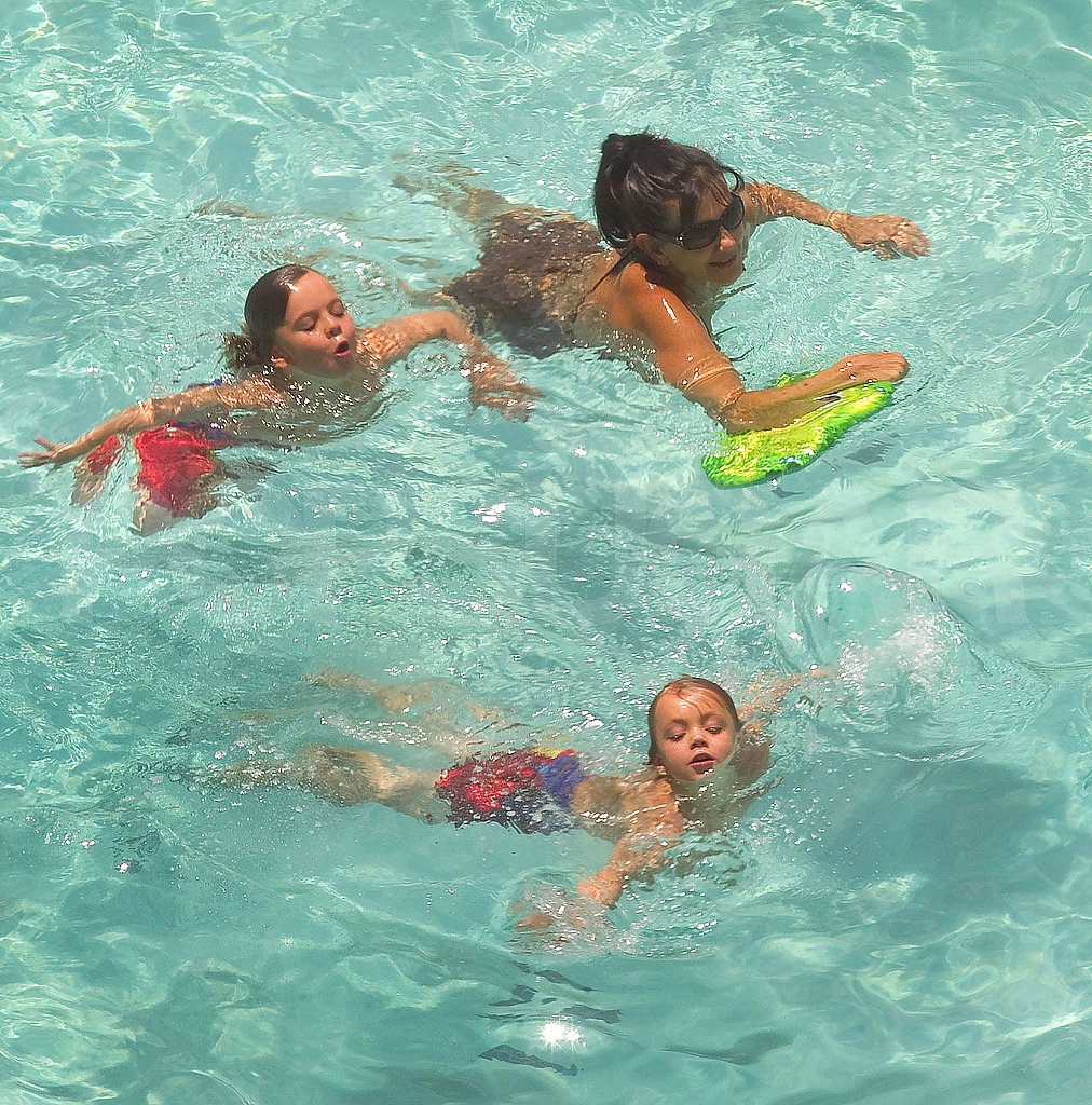 Sean Preston and Jayden James swim with grandma Lynne Spears.