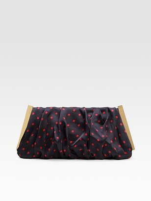 Dolce & Gabbana Miss Lady Polka Dot Satin Clutch ($557, originally $795)