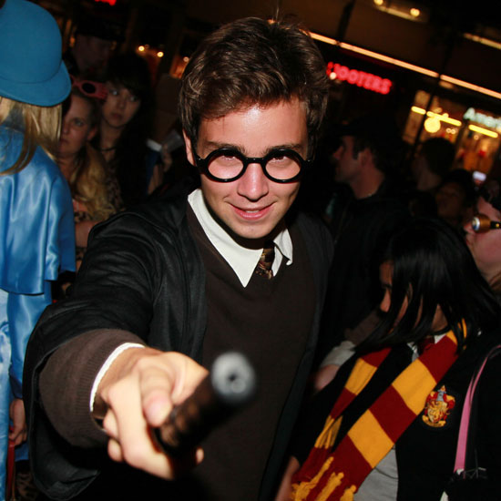 Expelliarmus! This Harry Potter doppelganger attends opening night of Harry Potter and the Deathly Hallows Part 2 at Grauman's Chinese Theatre in LA.