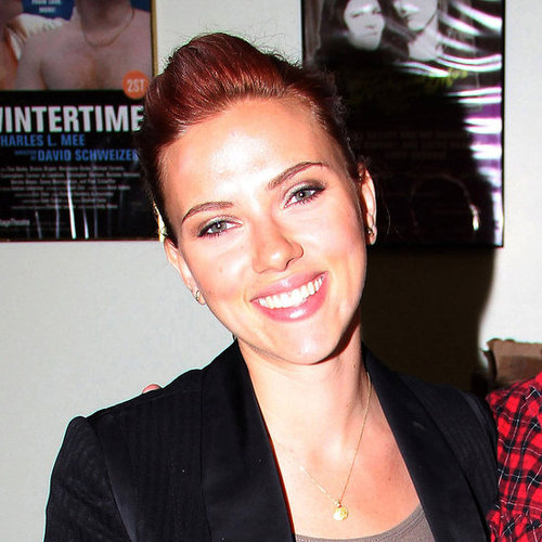 Scarlett Johansson at Zach Braff's Play Opening