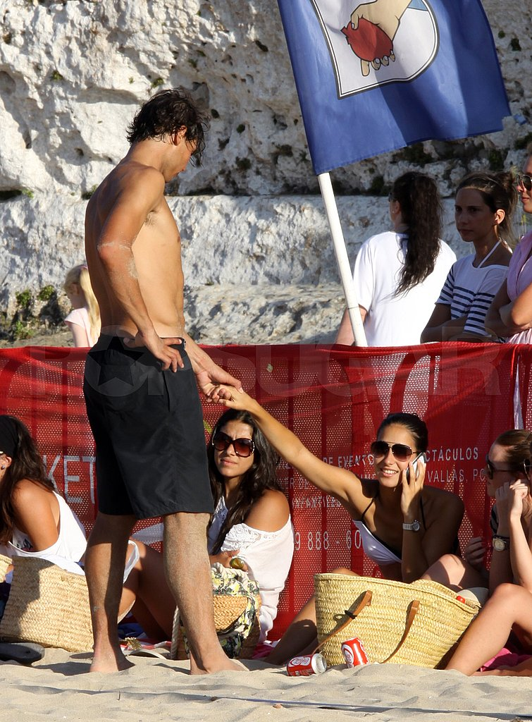 Rafael Nadal and Xisca Perello at the beach.