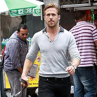 Ryan Gosling and His Dog George in NYC Pictures