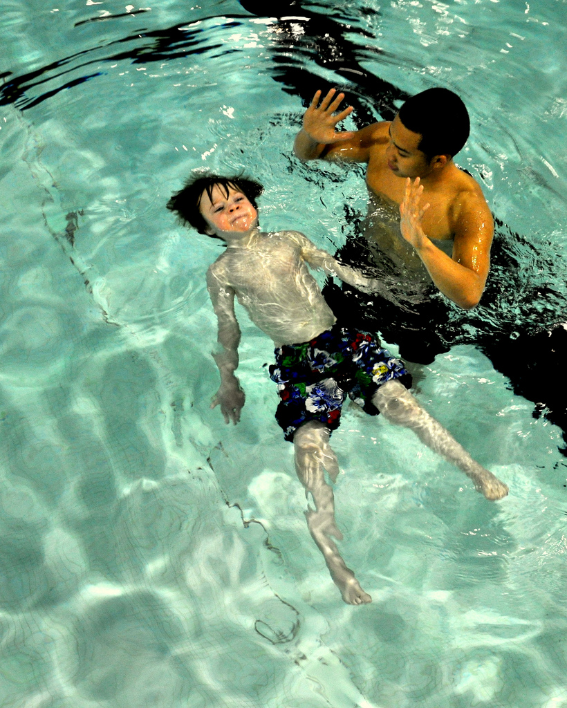Swimming improves motor skills.