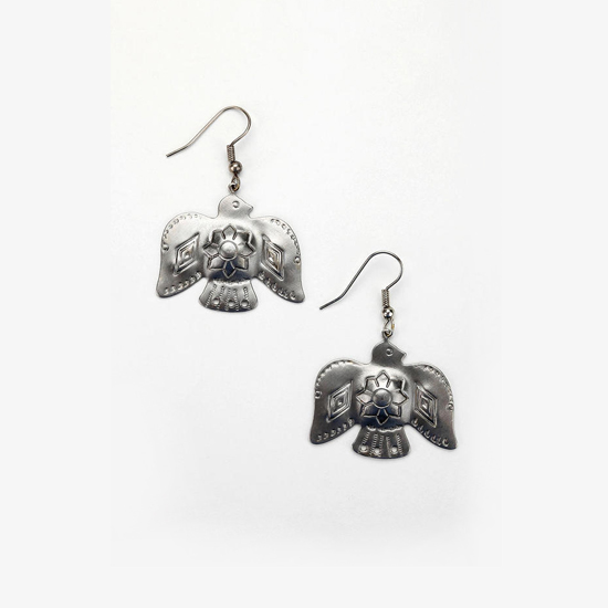 Urban Renewal Vintage Metal Navajo Bird Earrings, $14