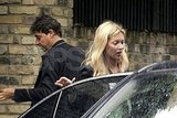 Kate Moss and Jamie Hince in London.