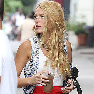 Blake Lively on the Gossip Girl Set in NYC