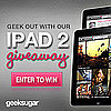 Free iPad 2 Giveaway